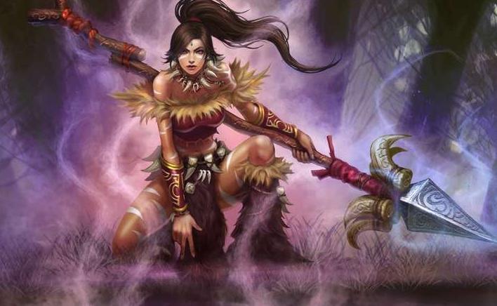 英雄联盟豹女手绘